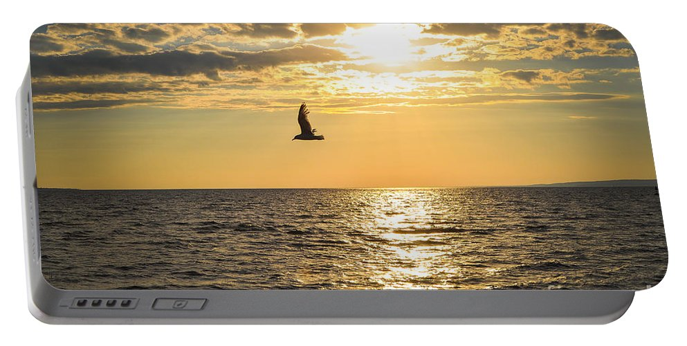 Sunset Portable Battery Charger featuring the photograph Golden Sunset by Bianca Nadeau