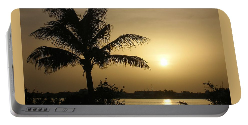Sunset Portable Battery Charger featuring the photograph Golden Sunset by Susan Vincil