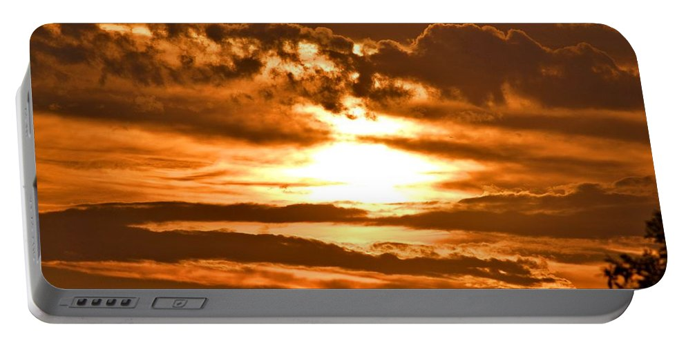 Sunset Portable Battery Charger featuring the photograph Golden Sunset by Tara Potts