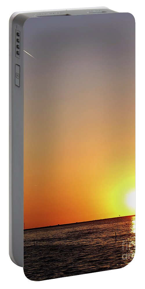 Water Portable Battery Charger featuring the photograph Golden Sunset by Zoran Berdjan