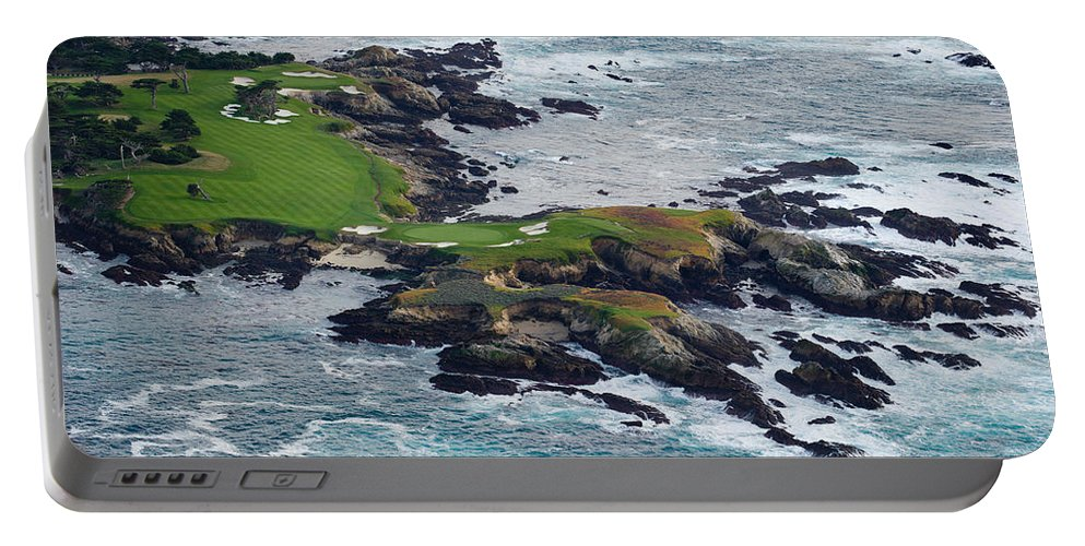 Photography Portable Battery Charger featuring the photograph Golf Course On An Island, Pebble Beach by Panoramic Images