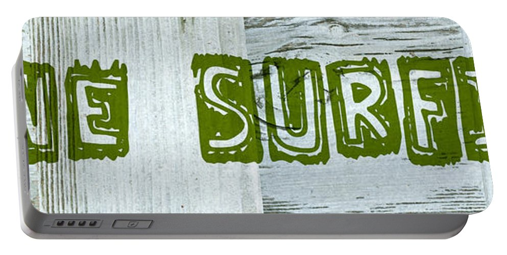 Gone Surfing Portable Battery Charger featuring the digital art Gone Surfing by Michelle Calkins