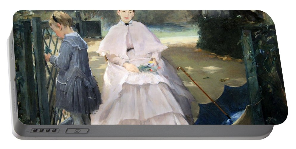 Nanny And Child Portable Battery Charger featuring the photograph Gonzales' Nanny And Child by Cora Wandel
