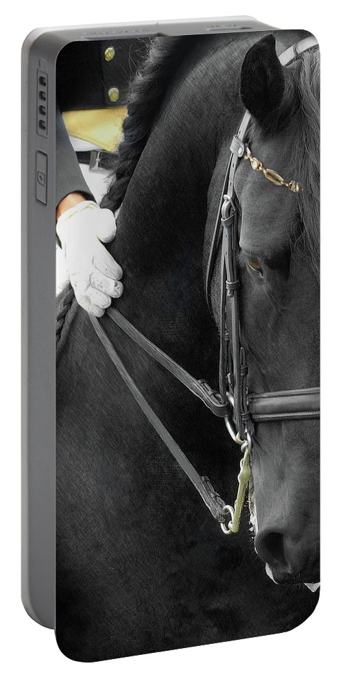 Friesian Competition Portable Battery Charger featuring the photograph Good Boy by Fran J Scott