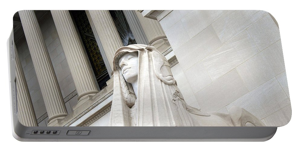 Sphinx Portable Battery Charger featuring the photograph Good Day Sweetie -- A Friendly Sphinx by Cora Wandel
