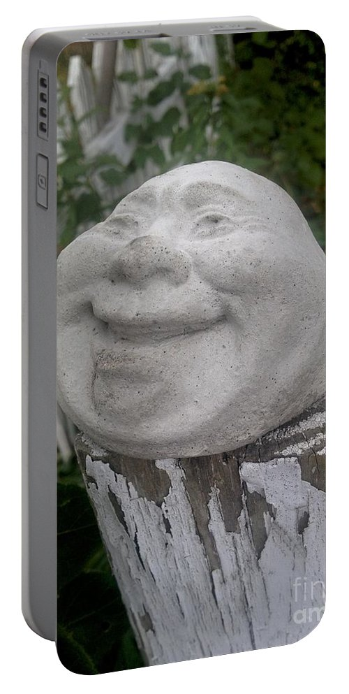 Fence Post Portable Battery Charger featuring the photograph Good Laugh by Joseph Yarbrough