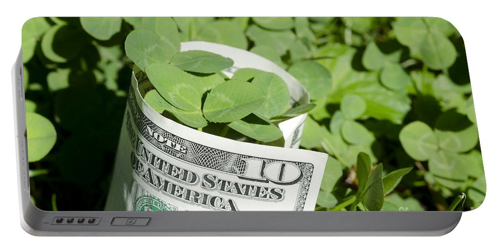 Money Portable Battery Charger featuring the photograph Good Luck And Money by Mats Silvan