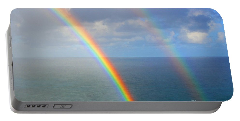 Rainbow Portable Battery Charger featuring the photograph Good Morning by Kris Hiemstra
