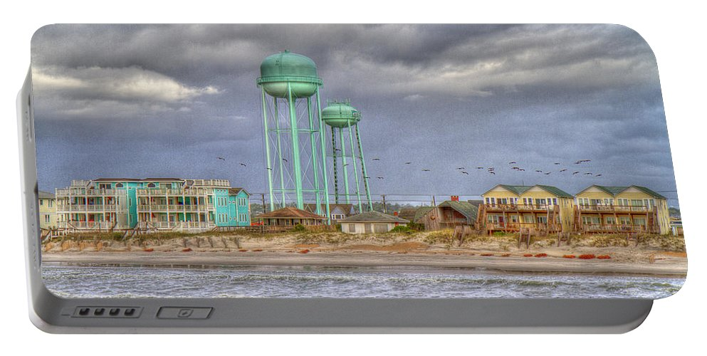 Topsail Portable Battery Charger featuring the photograph Good Morning Topsail Island by Betsy Knapp