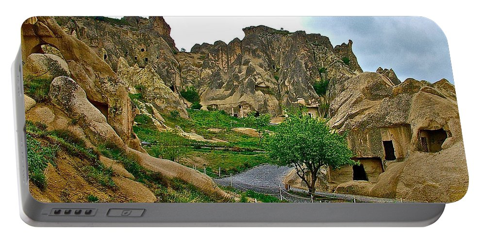 Goreme Open Air Musuem With Six Early Christian Churches Portable Battery Charger featuring the photograph Goreme Open Air Musuem With Six Early Christian Churches In Capp by Ruth Hager