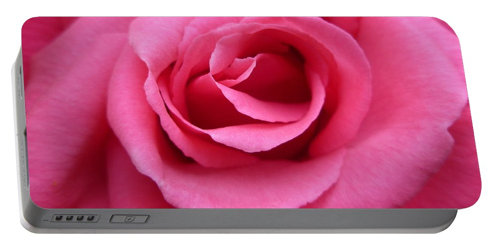Gorgeous Portable Battery Charger featuring the photograph Gorgeous Pink Rose by Vicki Spindler