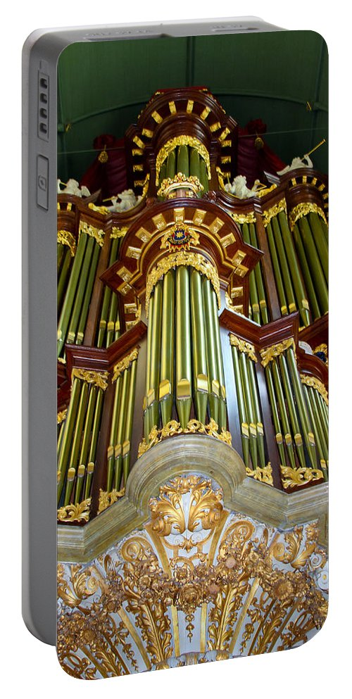Jenny Setchell Portable Battery Charger featuring the photograph Gouda Organ by Jenny Setchell