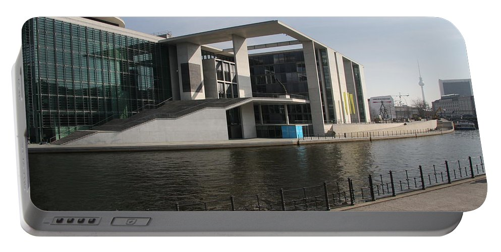 Government Building Portable Battery Charger featuring the photograph Government Building Berlin by Christiane Schulze Art And Photography