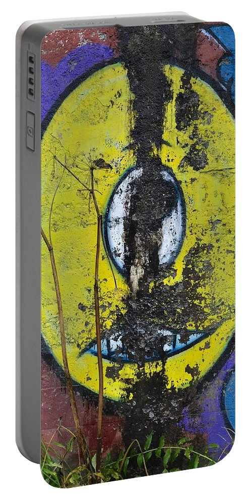 Graffiti Portable Battery Charger featuring the photograph Graffitio by Cathy Mahnke