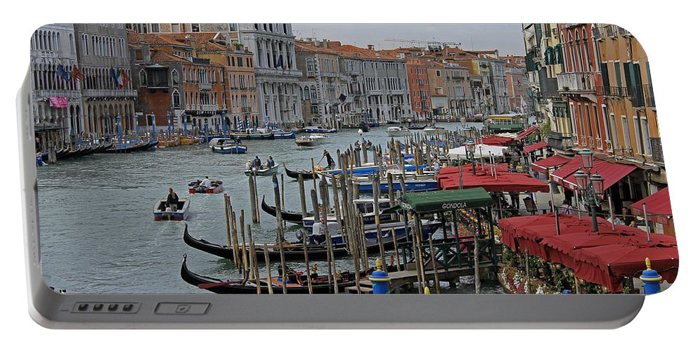 Venice Portable Battery Charger featuring the photograph Grand Canal From Rialto Bridge by Tony Murtagh