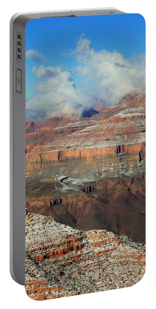 Grand Canyon Portable Battery Charger featuring the photograph grand Canyon After the Snow by Susan McMenamin