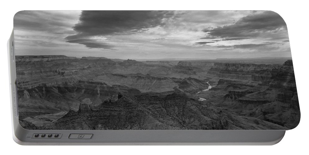 Grand Canyon Black And White Portable Battery Charger featuring the photograph Grand Canyon Black And White by Dan Sproul