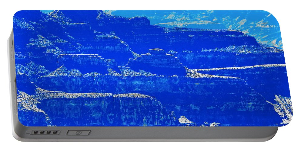 Landscape Portable Battery Charger featuring the digital art Grand Canyon Blues by Tim Richards