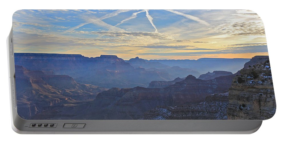 Nature Portable Battery Charger featuring the photograph Grand Canyon Dawn 2 by Noa Mohlabane