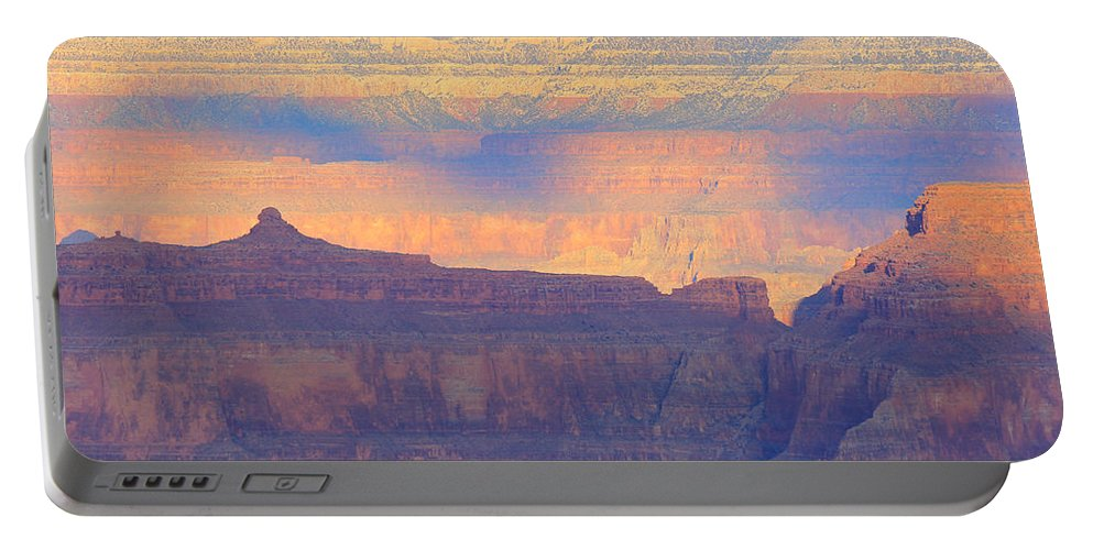 Nature Portable Battery Charger featuring the photograph Grand Canyon Dawn 4 by Noa Mohlabane
