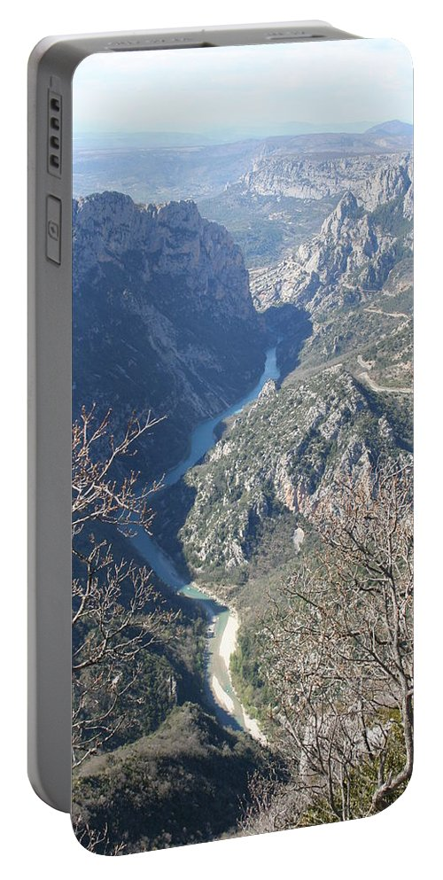 Canyon Portable Battery Charger featuring the photograph Grand Canyon Du Verdon Overview by Christiane Schulze Art And Photography