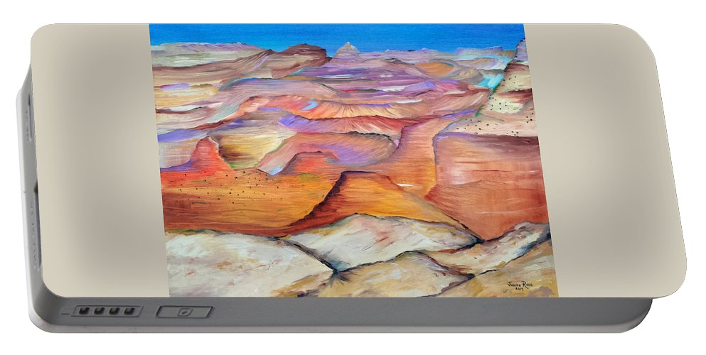 Grand Canyon Portable Battery Charger featuring the painting Grand Canyon by Judith Rhue