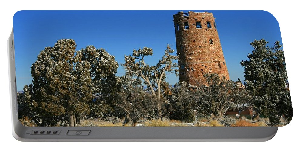 Grand Canyon Portable Battery Charger featuring the photograph Grand Canyon Watch Tower by Susan McMenamin