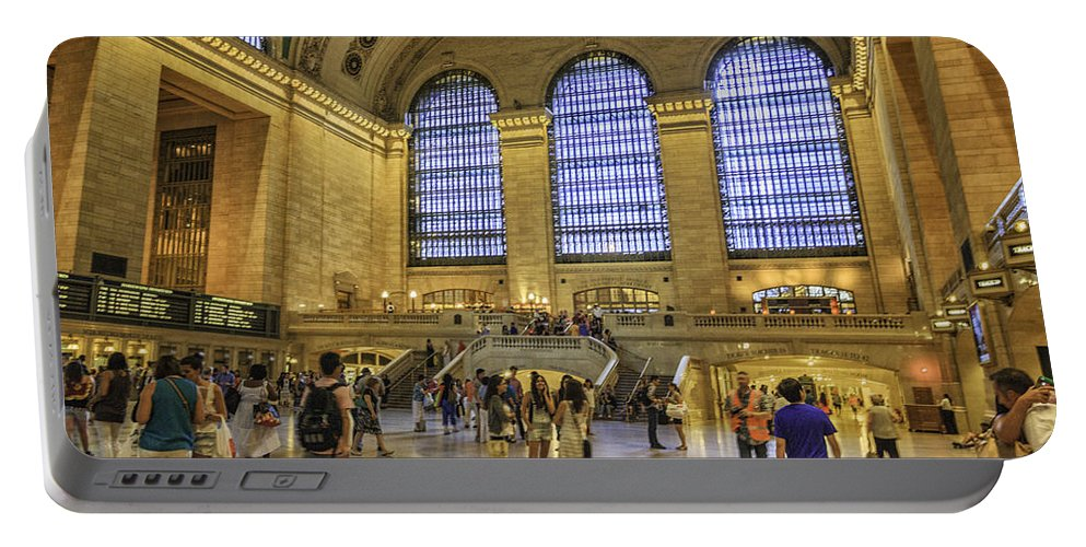 Railroad Portable Battery Charger featuring the photograph Grand Central by Fran Gallogly