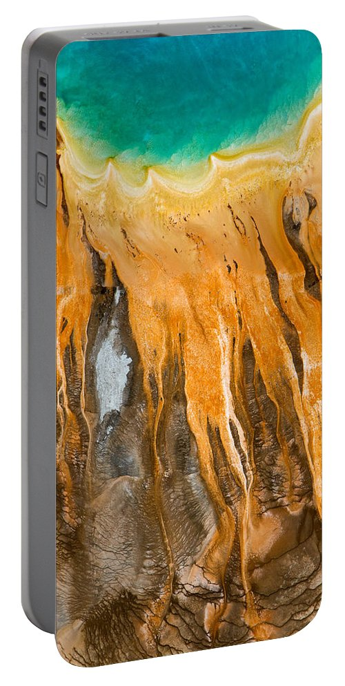 North America Portable Battery Charger featuring the photograph Grand Prismatic Detail by Max Waugh