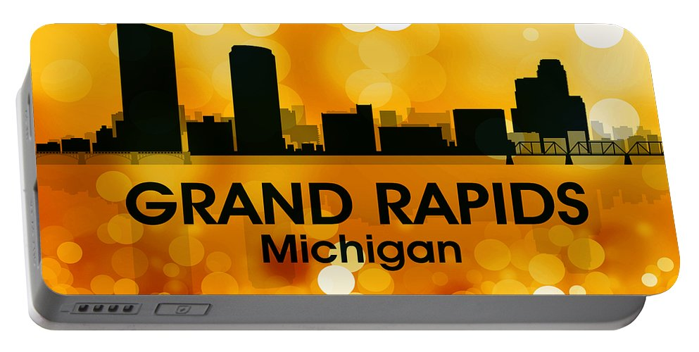 Grand Rapids Portable Battery Charger featuring the mixed media Grand Rapids Mi 3 by Angelina Vick