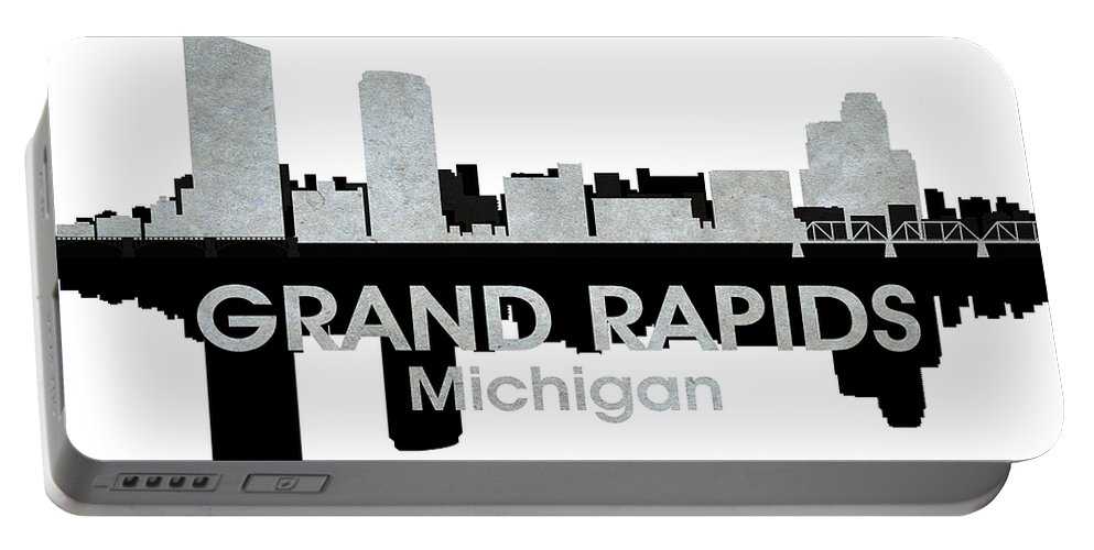 Grand Rapids Portable Battery Charger featuring the mixed media Grand Rapids Mi 4 by Angelina Vick