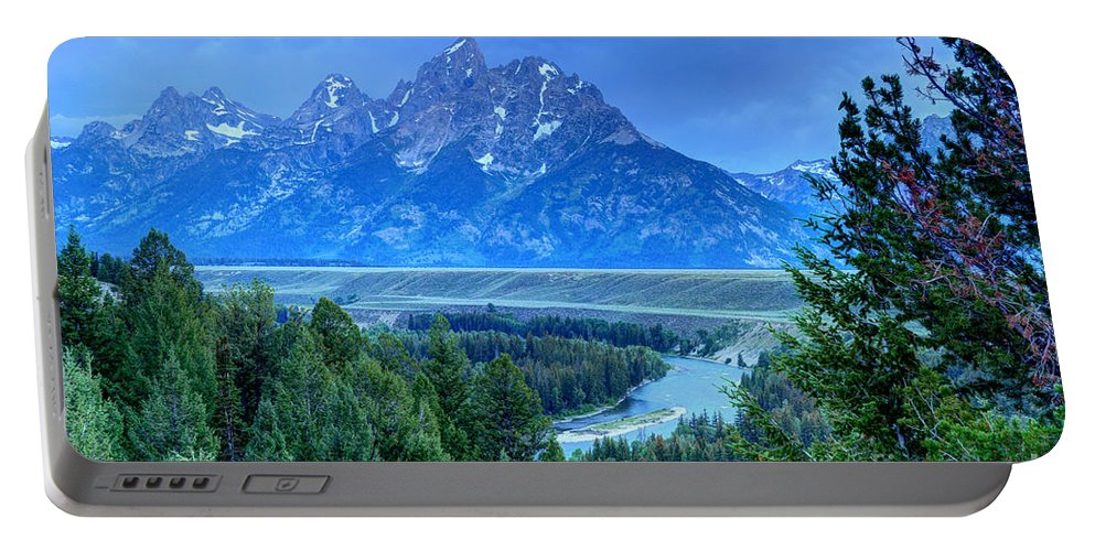 Teton National Park Portable Battery Charger featuring the photograph Grand Teton - Snake River Overlook by Gary Whitton