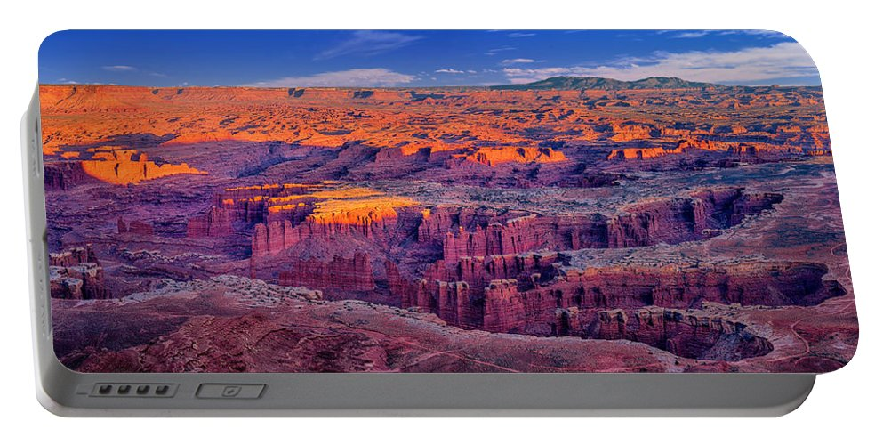 Grand View Point Portable Battery Charger featuring the photograph Grand View Point Evening Panorama by Greg Norrell