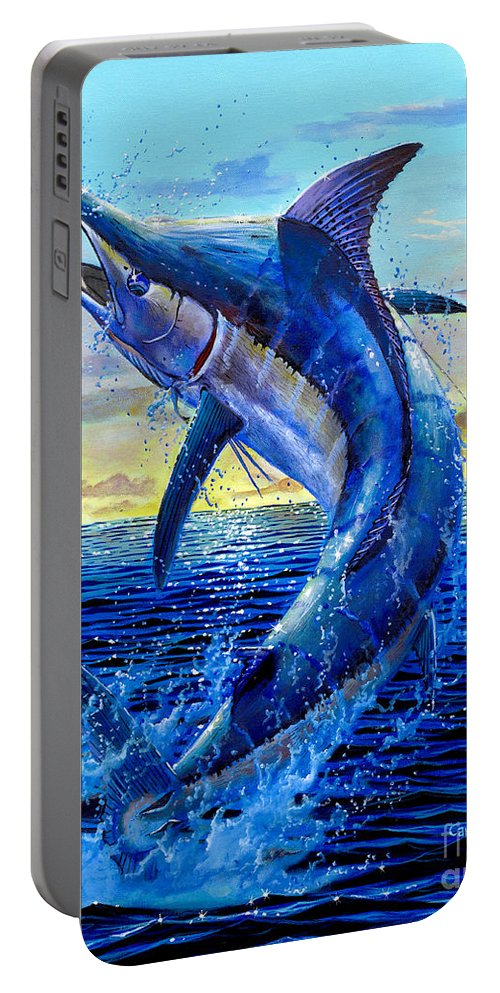 Marlin Portable Battery Charger featuring the painting Grander Off007 by Carey Chen