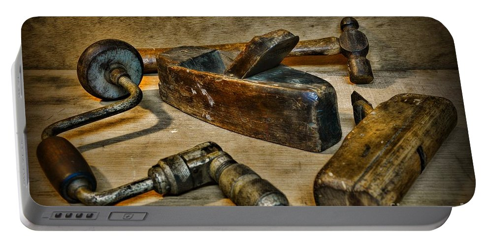 Paul Ward Portable Battery Charger featuring the photograph Grandfathers Tools by Paul Ward