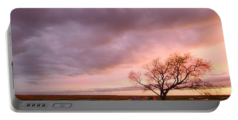 Galveston Portable Battery Charger featuring the photograph Storm At Dusk 2am-108346 by Andrew McInnes