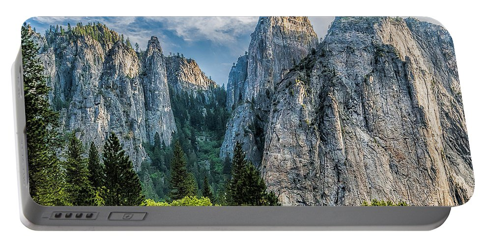 Yosemite National Park Portable Battery Charger featuring the photograph Sentinels by Maria Coulson