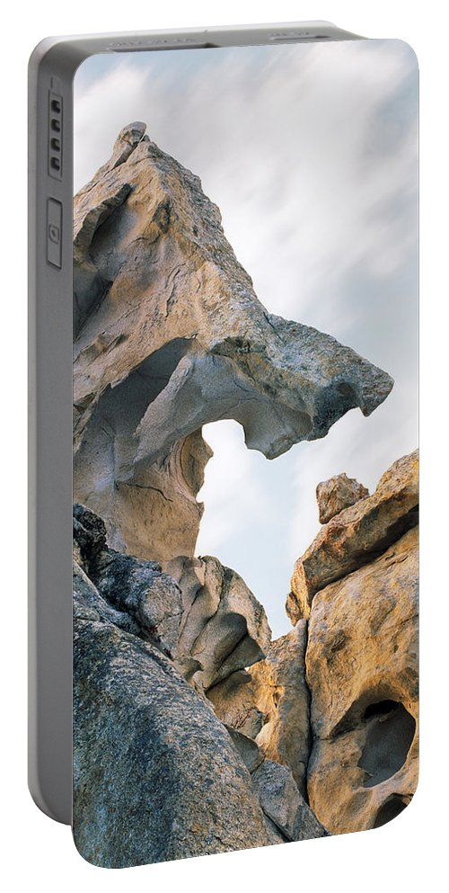 City Of The Rocks Portable Battery Charger featuring the photograph Granite Texture by Leland D Howard