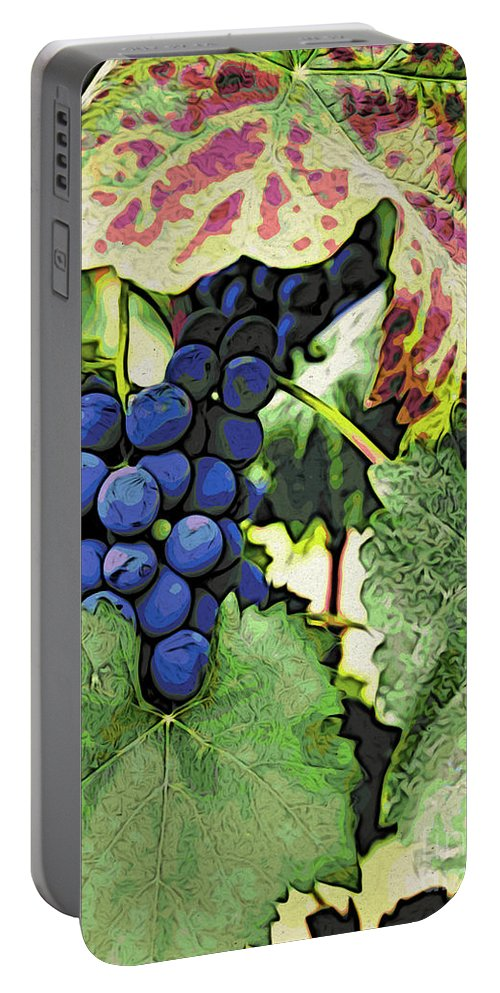 Kitchen Art Portable Battery Charger featuring the photograph Grapes 3 by Jacklyn Duryea Fraizer