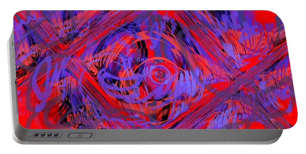 Graphic Art Portable Battery Charger featuring the digital art Graphic Explosion by Pharris Art