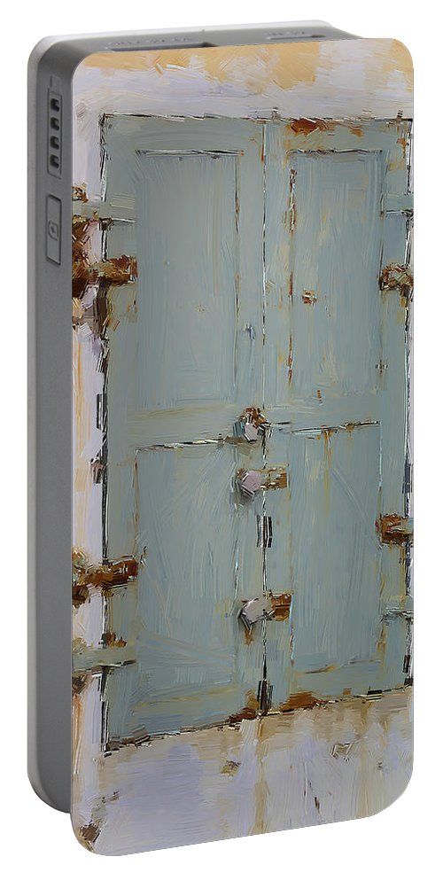 Door Portable Battery Charger featuring the photograph Gray And Rusted by Alice Gipson