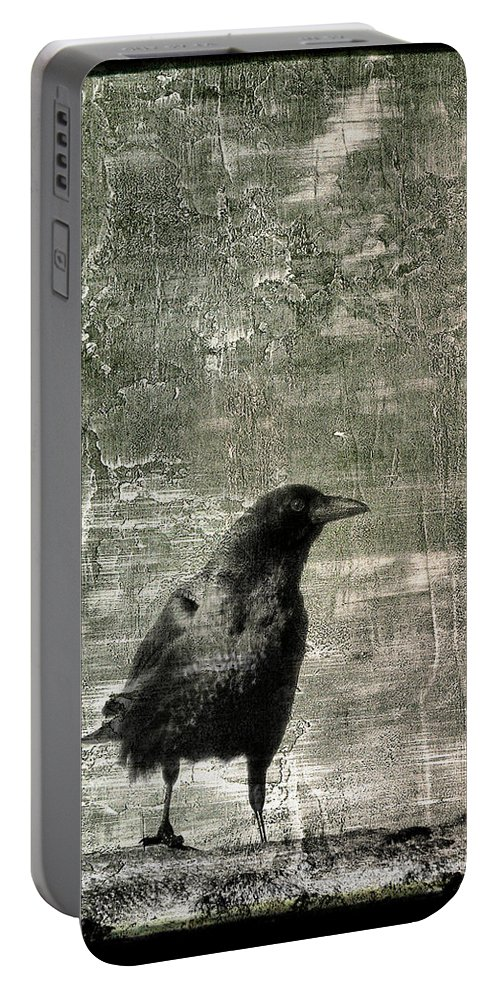 Gray Portable Battery Charger featuring the photograph Abstract Gray by Gothicrow Images