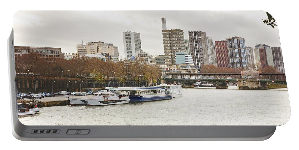 Paris Portable Battery Charger featuring the photograph Gray Side Of Paris by Pati Photography