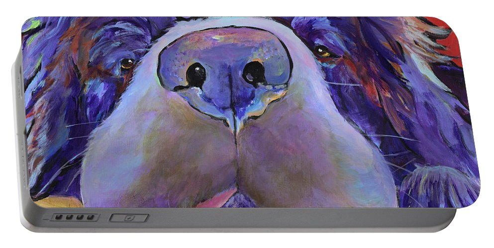 Pat Saunders-white Canvas Prints Portable Battery Charger featuring the painting Graysea by Pat Saunders-White