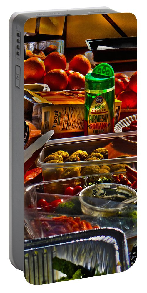 Food Portable Battery Charger featuring the photograph Grazing Table 2 by Richard J Cassato