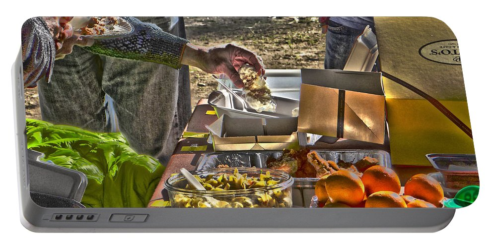 Food Portable Battery Charger featuring the photograph Grazing Table by Richard J Cassato