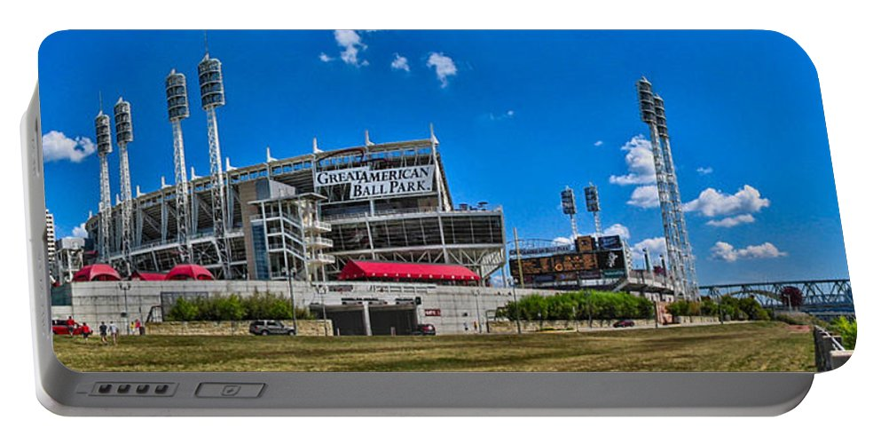 Cincinnati Portable Battery Charger featuring the photograph Great American Ball Park by C H Apperson