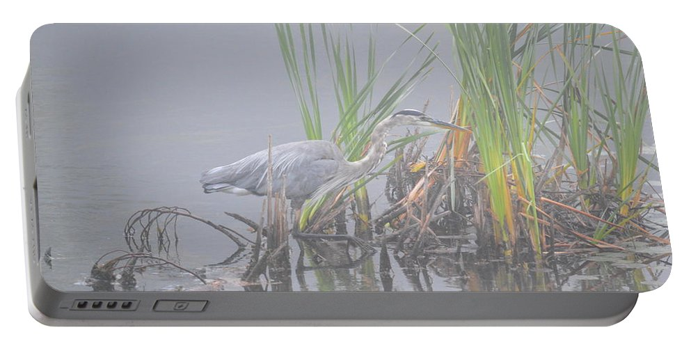 Great Blue Heron Portable Battery Charger featuring the photograph Great Blue Heron 3 by Thomas Phillips