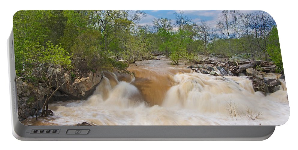 Great Falls Portable Battery Charger featuring the photograph Great Falls White Water #5 by Stuart Litoff