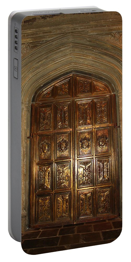 Harry Potter Portable Battery Charger featuring the photograph Great Hall Entrance Door by David Nicholls